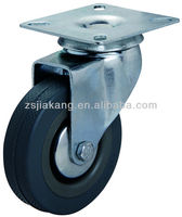 3 inch swivel top plate grey small rubber wheels