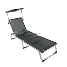 Outdoor aluminium chair portable folding bench sun lounger with sunshade