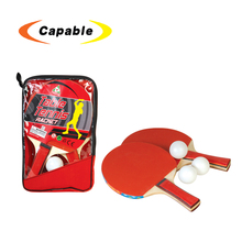Kids outdoor sport toy wooden paddle blades table tennis equipment racket ball for kids
