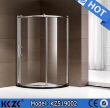 angle simple sliding shower enclosure