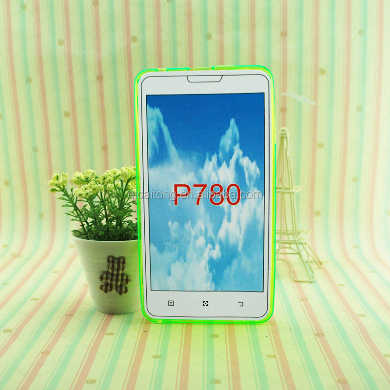 Mobile phone soft tpu case without texture for Lenovo P780