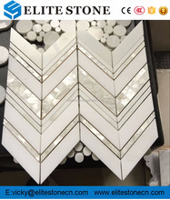 SH003 Mother of Pearl Oyster Herringbone Shell Mosaic Tile for Kitchen Backsplashes, Bathroom Walls, Spas, Pools