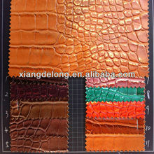 Eco-friendly flame resistant soft crocodile pu leather for ladies handbags