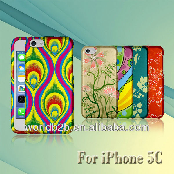plastic case cover for iphone 5c, water transfer printing finish