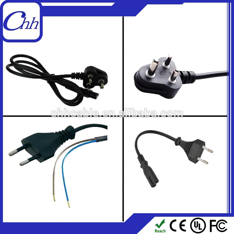 2015 factory supply India power extension cable 2.5A 6A 10A 16A indian power cable ac power cord with iec plug