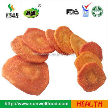Dried Crispy snacks carrot chips dried vegetable snacks