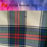 egyptian cotton flannel plaid fabric yard dyed fabric
