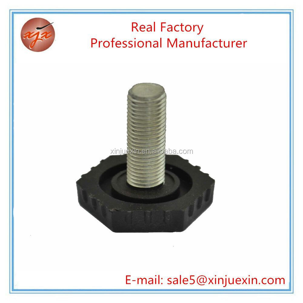 XJX Fixed Steel Feet Stud Mount Leveling Feet used for Swivel Caster Machine Products