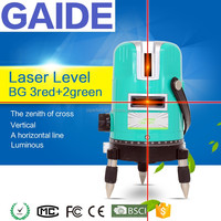 BG 3red+2green best multi cross line laser level 360 prices OEM