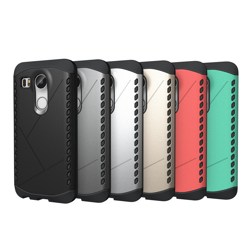 New Shield Pattern TPU+PC Hybrid Hard Phone Case Cover for LG Nexus 5X, Armor Pattern moible phone case for LG Nexus 5X