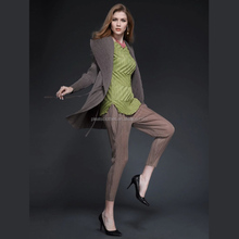 2015 Plush Mandarin Collar Long Sleeve Fashion Pleated Women's Coat For European Sex Young Open Women