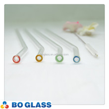 Customized borosilicate glass drinking straw in high quality