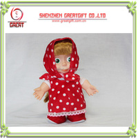2014 Hot sale cute repeat Russian Voice Recording Plush Toys Masha And The Bear Doll Walking and Talking