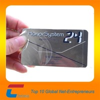 customized stainless steel metal business metal vist card
