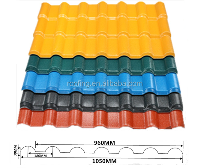 New technology construction material synthetic resin roof tile/pvc plastic Spanish roof tile