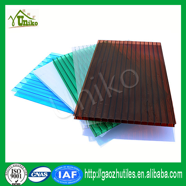 100% raw Bayer Markrolon polycarbonate roofing sheet twin wall