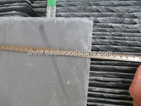Drilled hole black natural roofing slate tiles