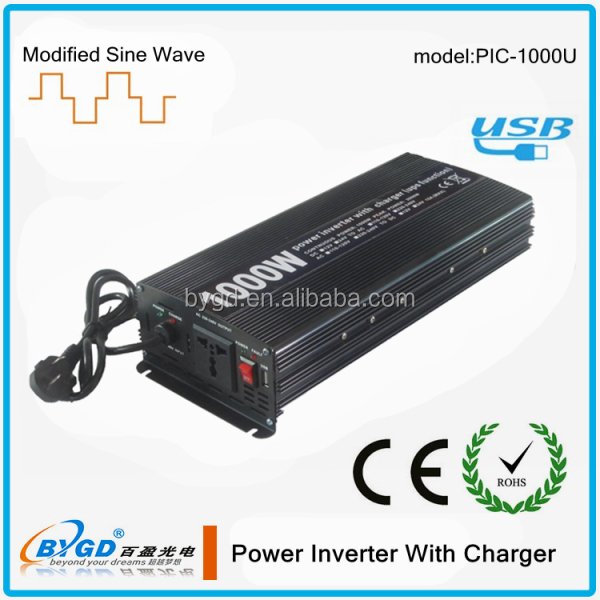 1000w power converter with charger,24v to 220v UPS function,home use