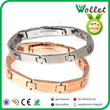 Roes plated blood pressure control bracelet bio stainless steel bracelet