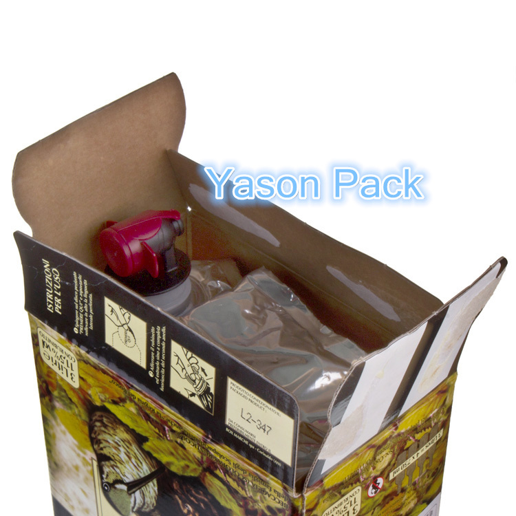 Yason bag in box oil aseptic bag in box 220 liter bib bag in box wine dispenser