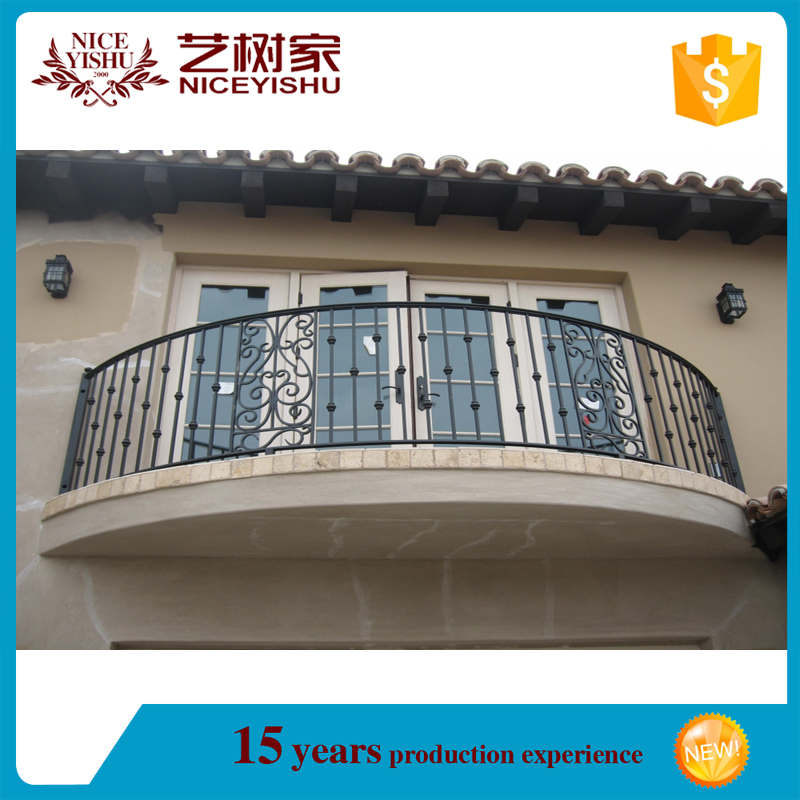 2016 cheap modern simple wrought iron balcony railing for Simple balcony grill design