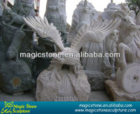 granite stone sculpture outdoor eagle statues