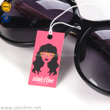 Sinicline Premium Quality Custom Print Paper Hang Tags For Sunglasses