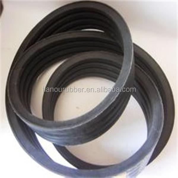 Factory supply rubber belt with banded AJ BJ CJ DJ SPZ SPA SPB SPC
