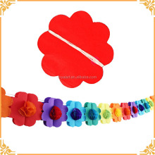 Colorful Party Decorations 3D Flower Tissue paper Ball Pompom Flower Garland