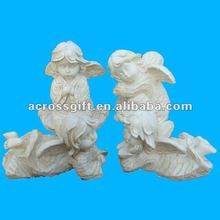 home accessories white resin angel craft