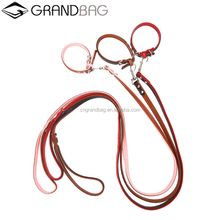 gift pet dog supplier embossed leather collars luxury genuine leather pet dog lead leash collars