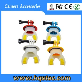 2015 hot sale gold supplier gopros heros 4 mouth mount,gopros mouth mount set,gopros mount