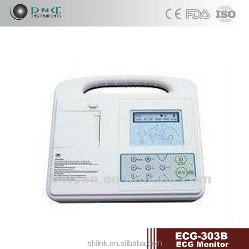 3 channel ecg machine with color display