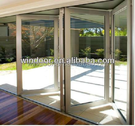 Enery Efficient Office Room Aluminum Bi Fold Screen Door