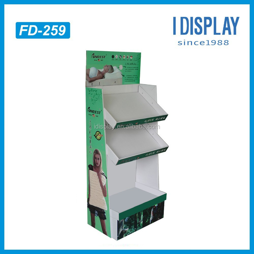 paper material cardboard pillow display stand