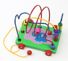 FQ brand Multicolor Kids Maze Bars Beads Roller Coaster, Hand-eye Coordination Beads Maze Roller Coaster