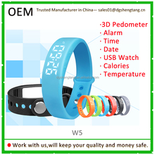 Silicone Bracelet Calories Smart 3D USB Pedometer for Running Walking