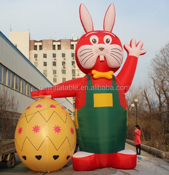 2015 hot sale giant outdoor easter inflatables rabbits
