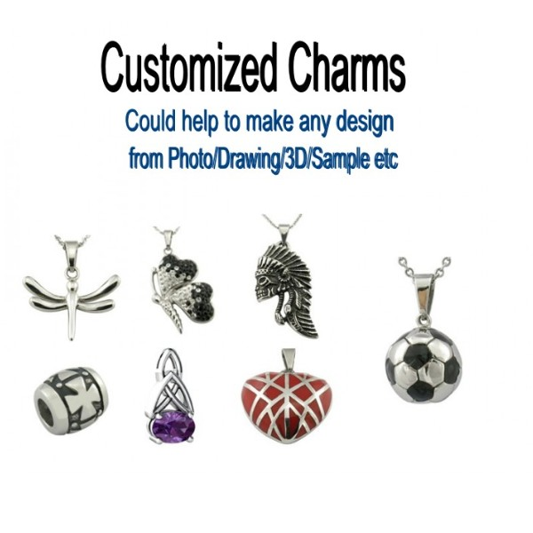 Stainless Steel Jewelry Customized <strong>Charms</strong>