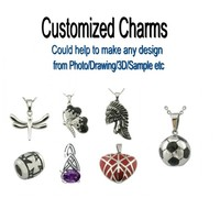 Stainless Steel Jewelry Customized Charms