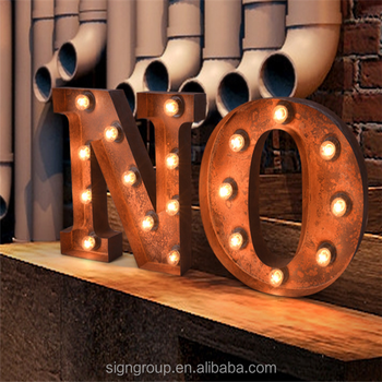 Factory Custom Light Up Sign LED Marquee Letter Alphabet Lights 3D Vintage Marquee Letter