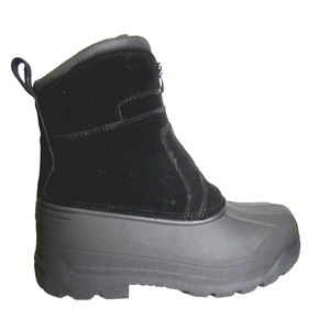 Mens Water Resistance Leather Rubber Sole Winter Snow boots