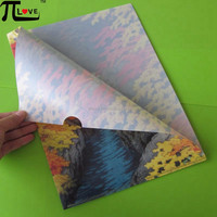 Cheap office promotional gifts PP material L shape A4 folder