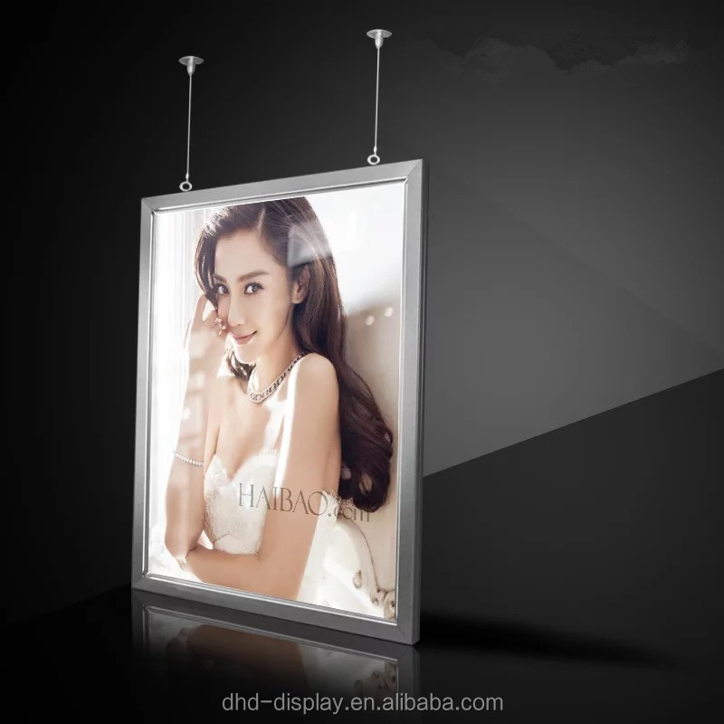 double sided snap frame 2 sided hanging led light box