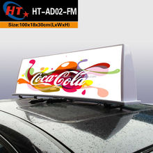 Plastic cover LED ads taxi dome light