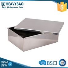 Heavybao Hot Quality Stainless Steel Metal Small Waterproof Storage Box & Bin With lid