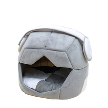 Comfortable Design 2-in-1 Foldable Space Helmet Warm Dog Cat Bed Cave House Waterproof And Thick Mat Not Messy After Washing