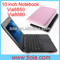 Cheap Mini Notebook Computer 10 inch Via8850