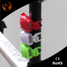 Fashionable Battery cycling flash bike led lights silicone head front rear wheel safety road light and Taillight
