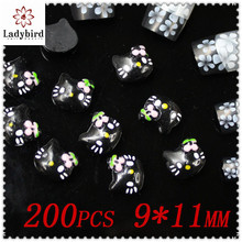 3D Nail art dangle/plastic nails adornment /nail decration